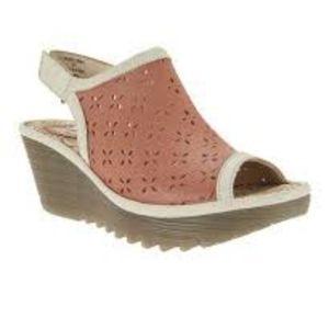 Fly London Rose Ybel Leather Wedge Sandal